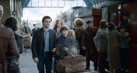 Epilogue: Nineteen Years Later ~ In the story's epilogue, taking place nineteen years later (2017) after the Battle of Hogwarts, Harry and Ginny are married and have three children named James Sirius, Albus Severus, and Lily Luna Potter. They remain close friends with Ron, Hermione, Neville (now a Herbology professor at Hogwarts) and co. [Harry Potter and the Deathly Hallows Part 2]