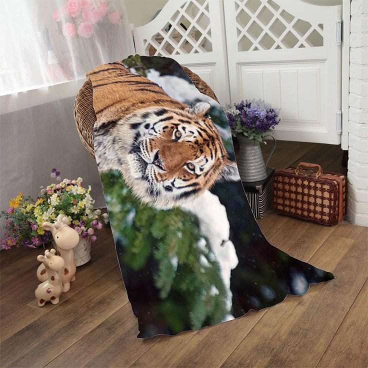 Tiger In Winter Absorbent Drying Beach Towel Home Textile Toallas Microfibra Sofa Blanket