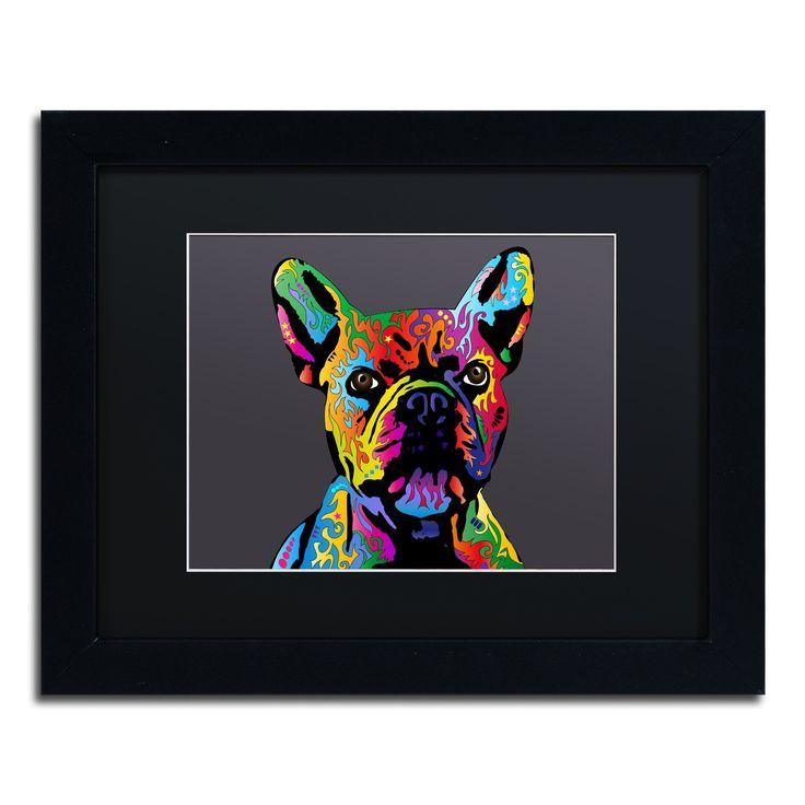 Michael Tompsett 'French Bulldog Grey' Matted Framed Art