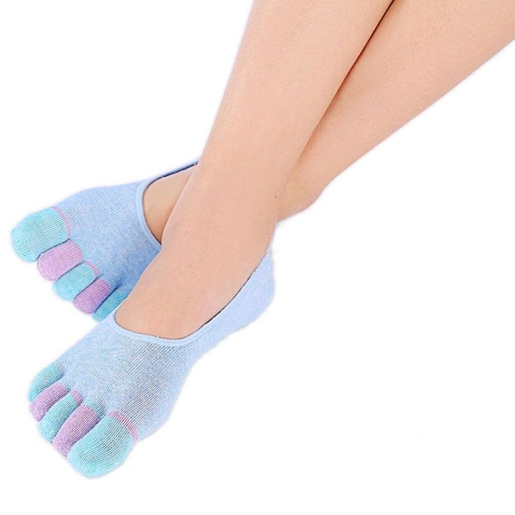 Sandistore Womens 5-Toe Solid Yoga Gym Non Slip Soft Ventilation Massage Toe Socks (Blue 1). Material:Cotton Blended. Hygienic alternative to bare feet Size:Free Size. Sweat, shaping, deodorant, anti friction, air permeability Super thin and lightweight. Five-toe design, Non Slip soles, Machine washable, air dry. Quantity: 1 Pair.