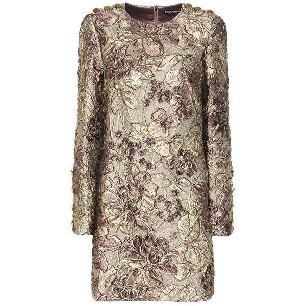 Dolce & Gabbana Metallic Cloqué Jacquard Dress