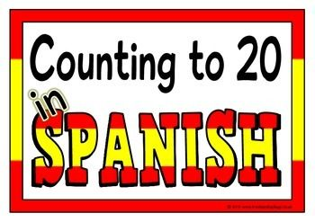 With a title page, here is a set of printables that show the numbers to 20 in Spanish. The numbers have a Spanish flag color coordinated border for effect. This set will work perfectly as a resource and display. Visit our TpT store for more information and for other classroom display resources by clicking on the provided links.