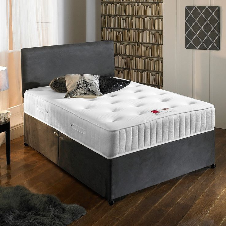 17 best images about beds on pinterest ottomans grey for Grey divan king size bed