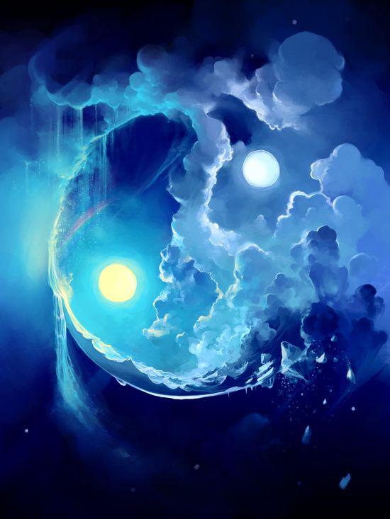 Die Welt, die monden ist. Vergiß, vergiß, und laß uns jetzt nur dies erleben, wie die Sterne durch geklärten Nachthimmel dringen, wie der Mond die Gärten voll übersteigt. Wir fühlten längst schon, wie's spiegelnder wird im Dunkeln; wie ein Schein entsteht, ein weißer Schatten in dem Glanz der Dunkelheit. Nun aber laß uns ganz hinübertreten in die Welt hinein die monden ist. - Rainer Maria Rilke -  Bild: Fuel for life by Cyril Rolando