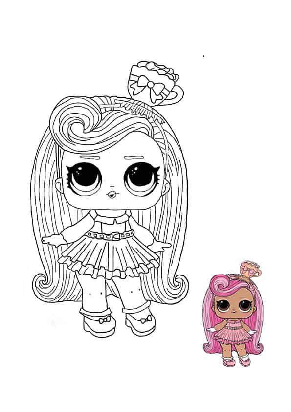 Lol Surprise Hairvibes Darling Coloring Page Free Coloring Sheets Coloring1 Com In 2020 Star Coloring Pages Unicorn Coloring Pages Cute Coloring Pages