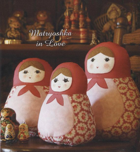 PDF Pattern of Russian Doll Matryoshka Girl soft por Patternsinlove, $5.00