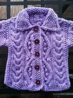 I wanted to share this darling purple baby sweater that I knit up for my cousin's little one on the way.  Keep on reading for some tips on k...