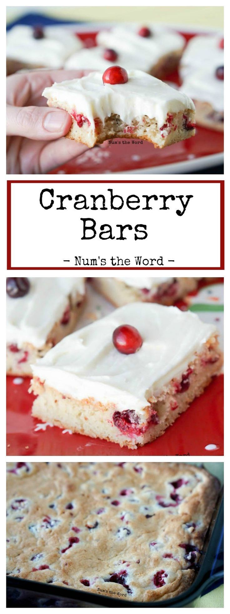 Malvorlagen kirschen pictures to pin on pinterest - Cranberry Bars With Orange Cream Cheese Frosting Are An Easy Beautiful Dessert That Make A