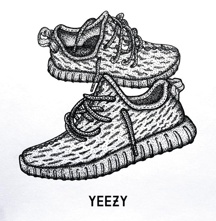 Adidas Yeezy Boost 350 Illustration. Artist Kurt Smale