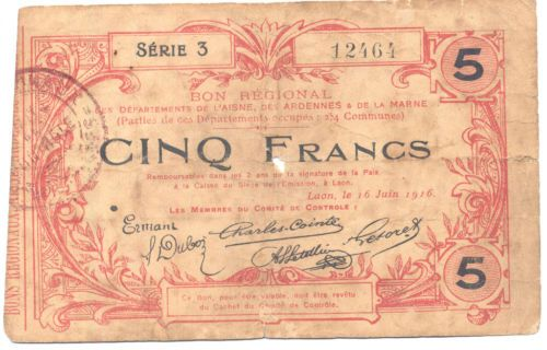 1916 French note