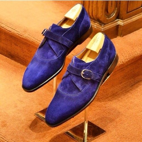Blue suede monkstraps by @normanvi. Via @theshoesnob84 // MNSWR style inspiration || #mnswr #menswear #mensfashion #mensstyle #style #sprezzatura #sprezza #styleformen #bespoke #mentrend #gentlemen #shoes #mensshoes #footwear #shoeporn #shoesfortoday...