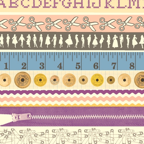 Washi Tape (Sewing) fabric by pennycandy on Spoonflower - custom fabric: Custom Fabrics, Spoonflower, Pennycandi, Tape Sewing, Washi Tape, All