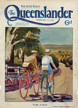 Poster Cover from The Queenslander 1936 - Malvern Star Cycles