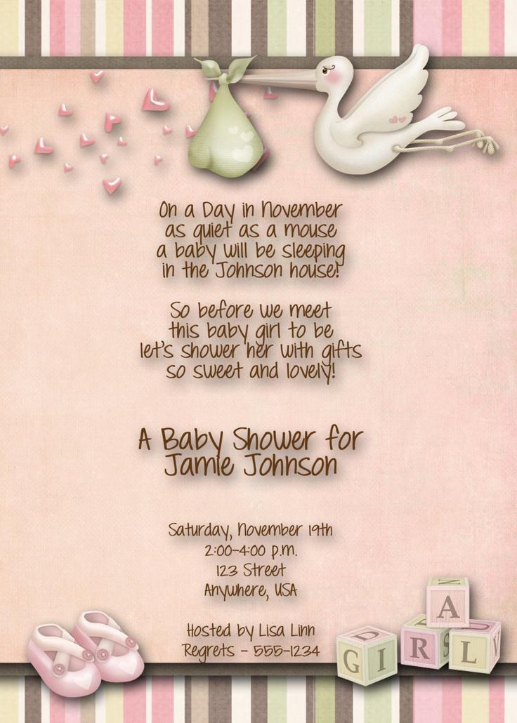 Baby Shower Invitation - wording...so cute!