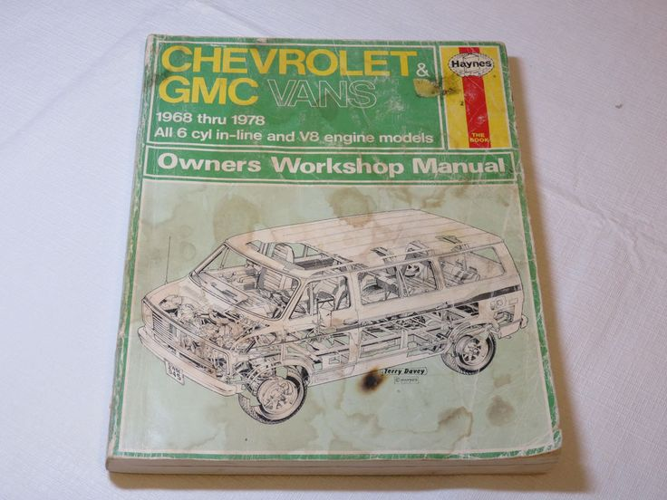 Haynes Chevrolet GMC Vans 1968 1978 Owners Workshop Manual Paperback Book