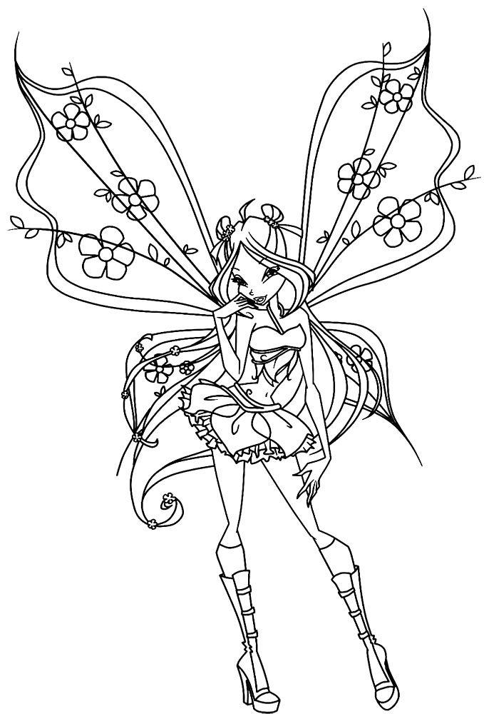 Dibujos De Winx Club Para Colorear Dibujos Para Colorear