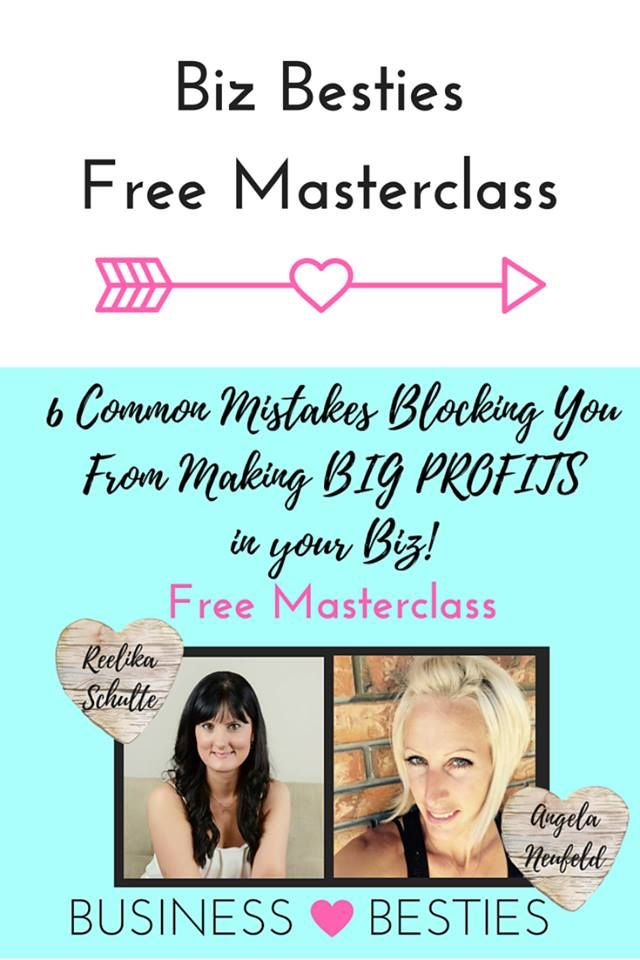 FREE MASTERCLASS - 6 Common Mistakes Blocking You From Making Big Profits in Your Business. This is for you if you are service-based entrepreneur and want to grow your online business. Two business coaches are sharing tips how to turn your setback to your biggest comeback!