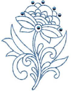 Embroidery   Free Machine Embroidery Designs   Bunnycup Embroidery   Jacobean Redwork