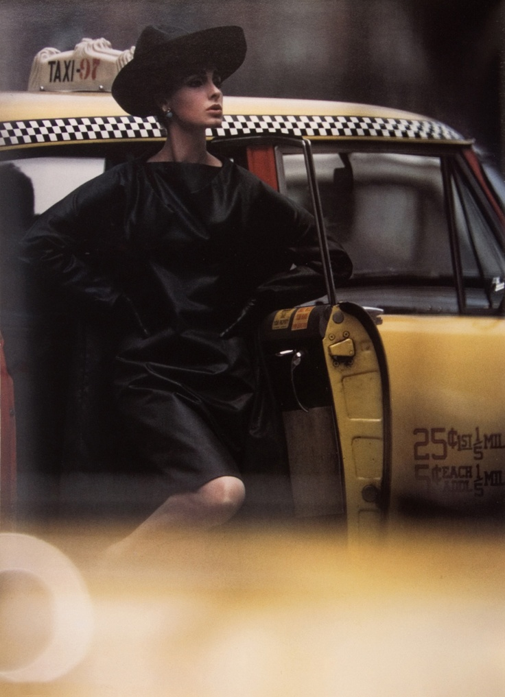 Antonia + Yellow Taxi, New York, 1962 William Klein