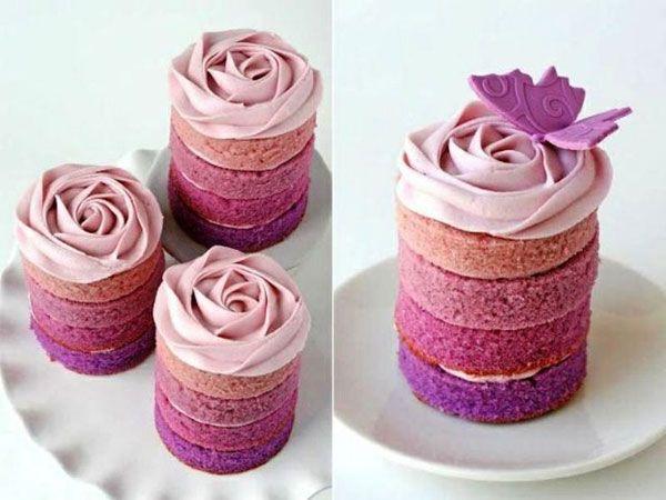 Ombre mini cakes.