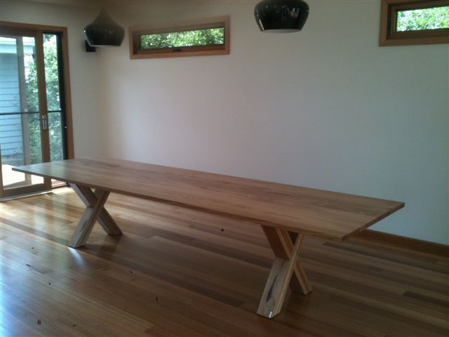 Criss Cross Large Timber Table, Dining - Dining Tables