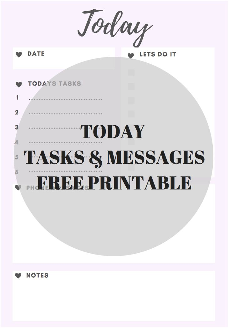 Free Printable - Use at work to manage tasks and phone messages - Grab them for free at lovebonnie.com.au
