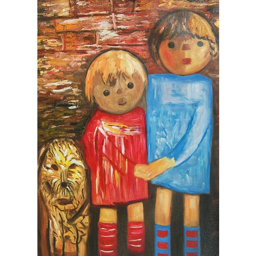 dwoje-dzieci-z-psem-tadeusz-makowski.jpg (500×500)