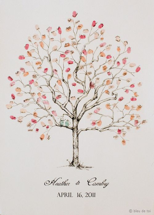 "fingerprint tree ""guest book"" (pic heavy) :  wedding L Jweb I am beyond in love with this!!!!"
