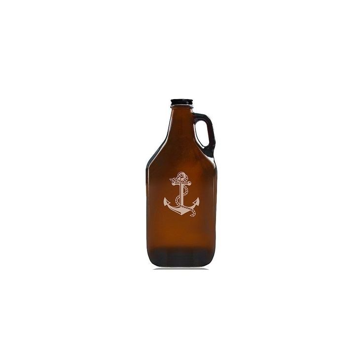 Madison Anchor Beer Amber Growler, Brown (Glass)