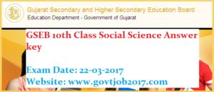 Social Science Answer key 2017