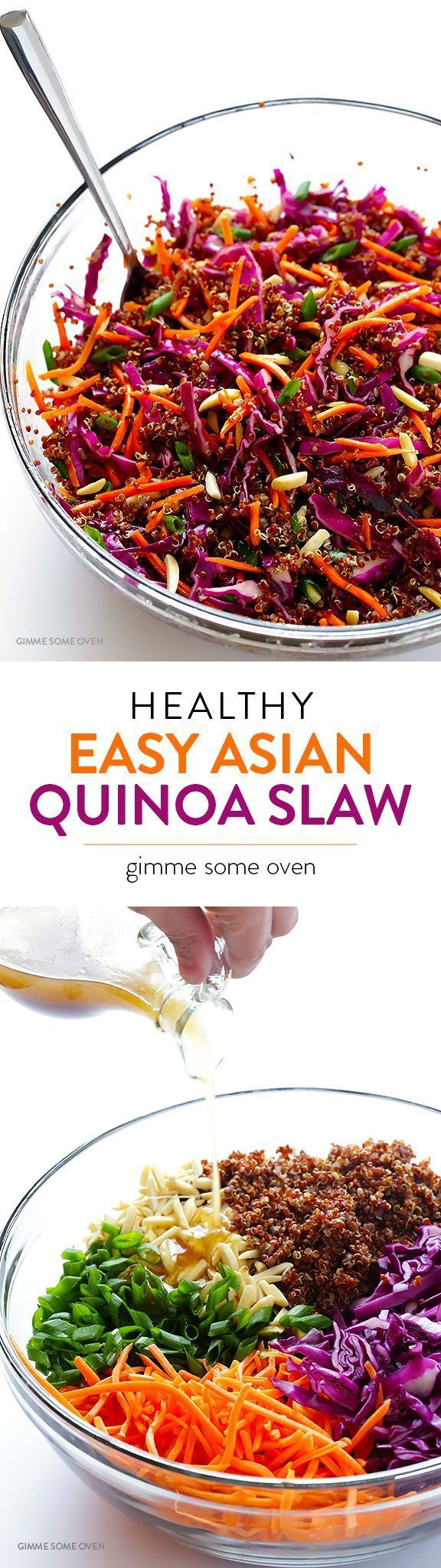 Easy Asian Quinoa Salad -- quick and easy to make, full of great flavor, and naturally vegan and gluten-free!