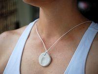 Fingerprint Pendant Necklace
