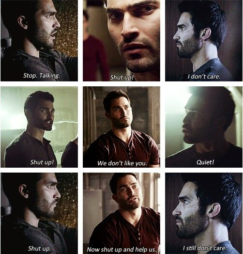 Derek Hale. Words of encouragement from Sour Wolf.