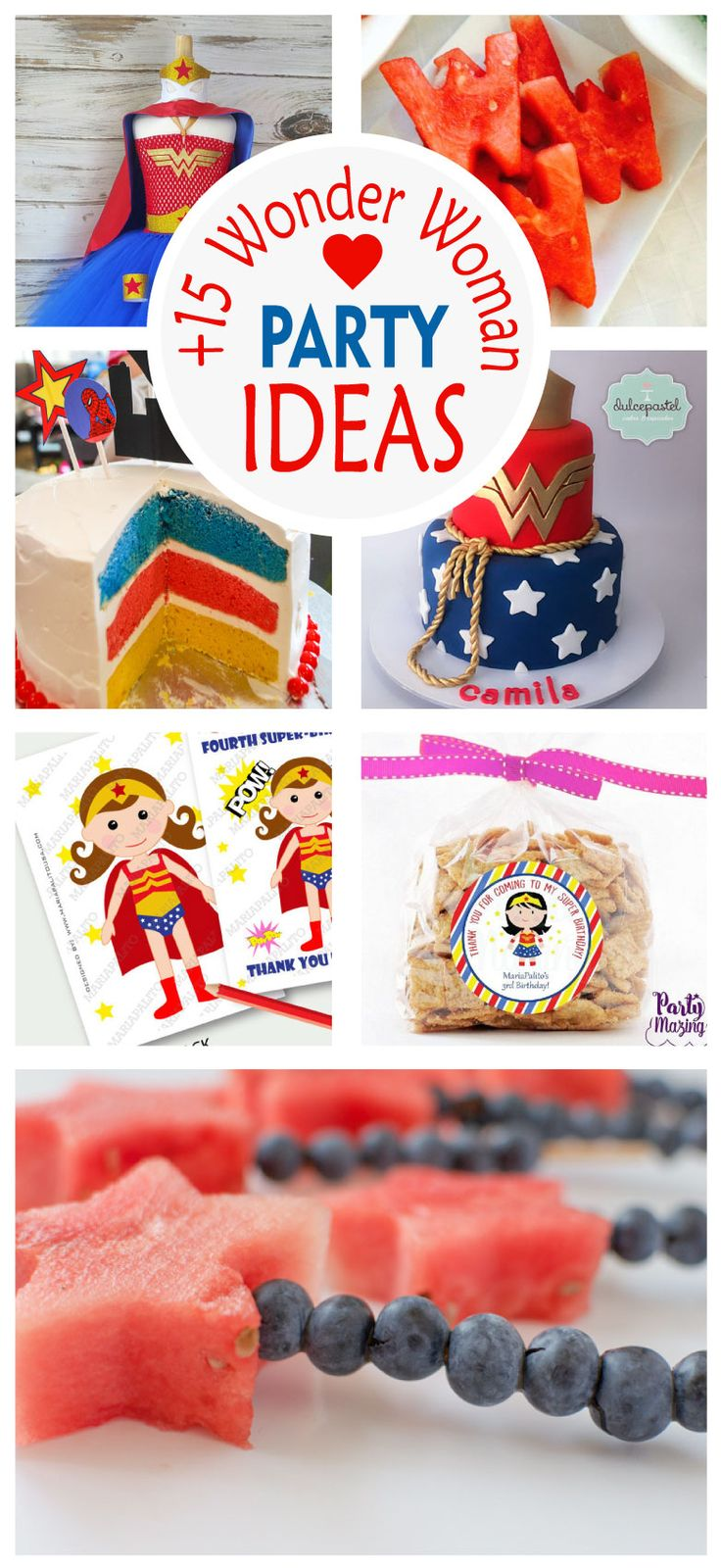 New post in Partymazing: 15 Amazing Wonder Woman Party Ideas. Visit www.partymazing.com