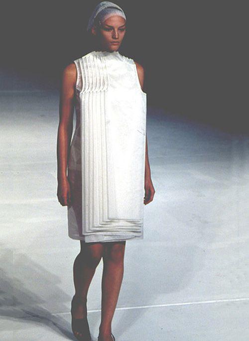 // layered dress hussein chalayan, spring 1999