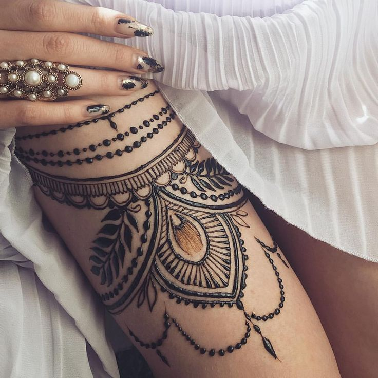 Thigh garter henna⚜️ (at Kyiv, Ukraine)
