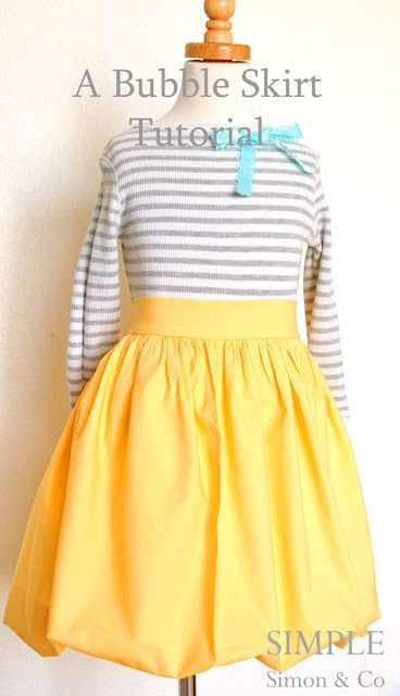 how to sew a bubble skirt