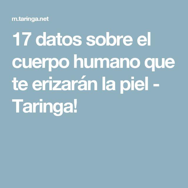 17 datos sobre el cuerpo humano que te erizarán la piel - Taringa!