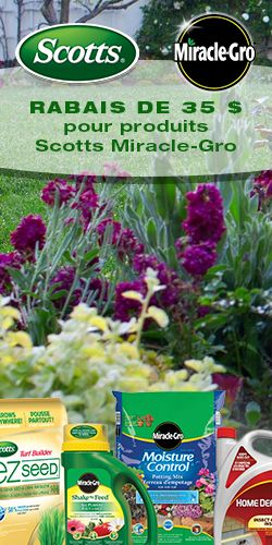 Rabais de 25 $ pour produits Scott Miracle-Gro.  http://rienquedugratuit.ca/coupons/produits-scott-miracle-gro/