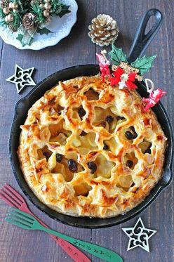 「スキレットで星のチーズカスタードアップルパイ」ぱお   お菓子・パンのレシピや作り方【cotta*コッタ】