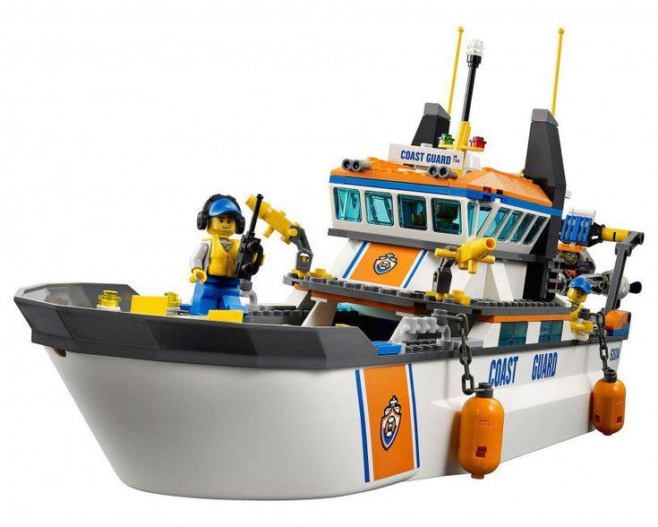 LEGO City Kustwacht patrouille boot 60014 - De leukste LEGO City bouwsets op https://www.olgo.nl/lego/city.html