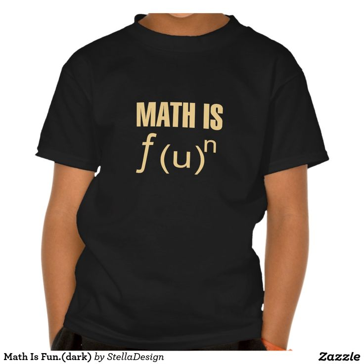 Math Is Fun.(dark) Tshirt