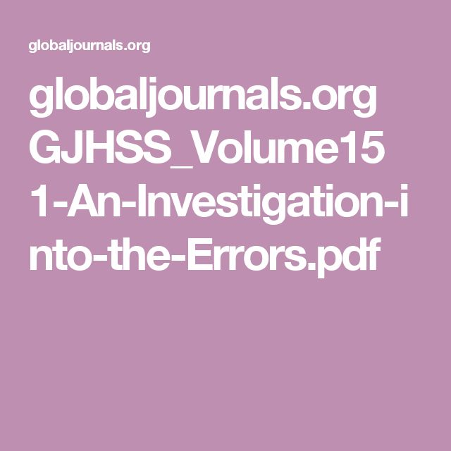 globaljournals.org GJHSS_Volume15 1-An-Investigation-into-the-Errors.pdf