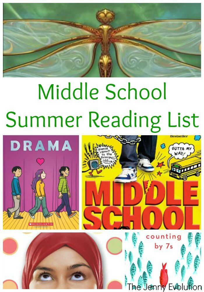 Middle School Summer Reading List for Kids in Grade 6, Grade 7 and Grade 8 | The Jenny Evolution