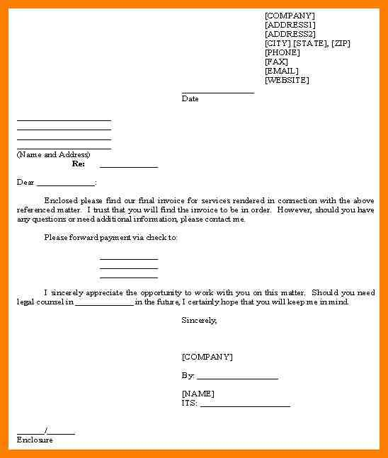 sample billing letter for services rendered joblettered best photos examples