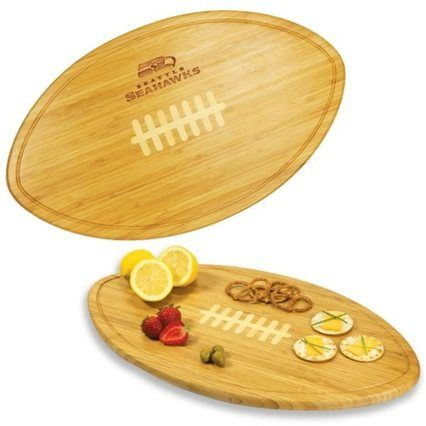 Seattle Seahawks kickoff cutting board | 12 Ways to Decorate a Seahawks Fan Cave | Seattle Met