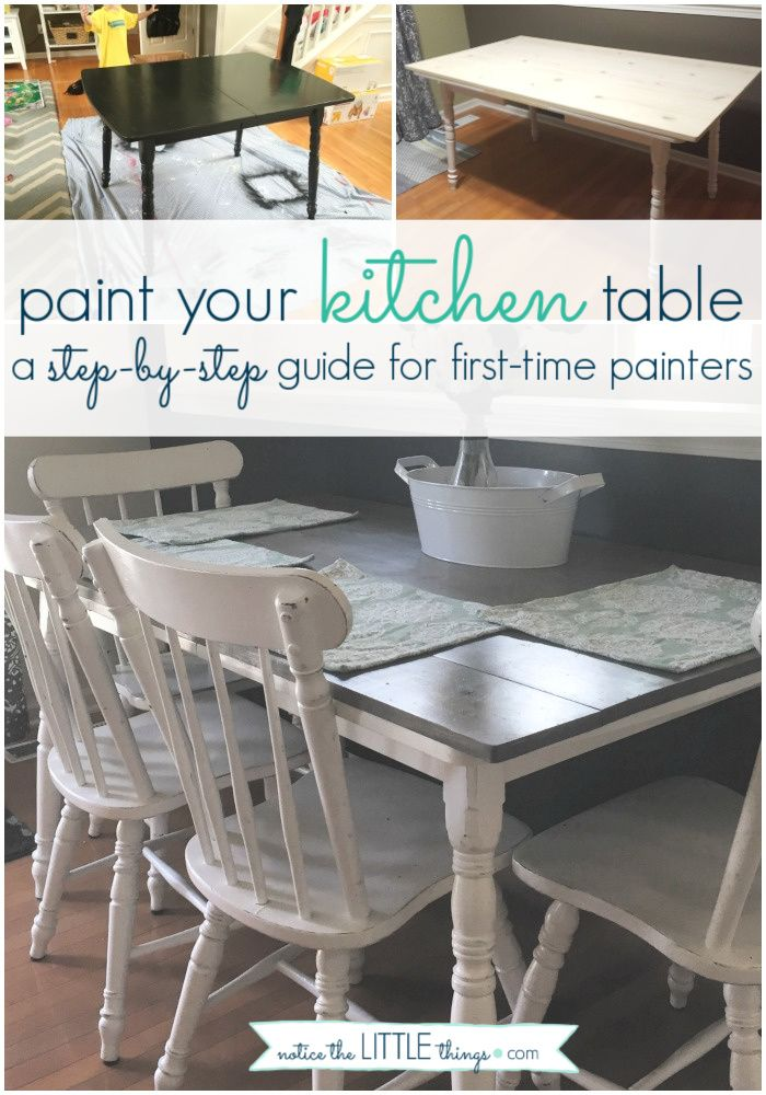how to paint your kitchen table   notice the LITTLE things