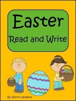 Easter Read and Write - Kindergarten or 1st grade reading - Great short Easter story with related fill in the blank sentences to check for comprehension. Your students will LOVE this cute story. Check it out! $