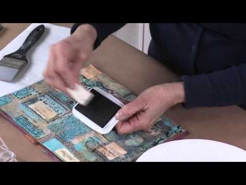 StencilGirl Webinar: Wet Stenciling Techniques. Video Demonstration with stencils by Mary Beth Shaw.