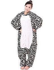 Feoya - Pijama Disfraces Animal Adulto Zapatos de Garras Animal para Hombre Mujer Ropa de Dormir Traje Cosplay de Franela - Mono Panda Leopardo - Talla M L XL